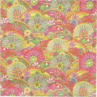 psychedelic swirls themed lokta wrap