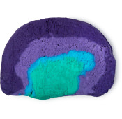 A half circle purple, blue and green bubble bar resembling a rainbow