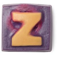 Viereckiges, festes, violettes Ölbad mit goldenem Z an der Oberseite