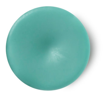 The Breath Of God perfume sólido cítrico tamaño viaje vegano de color azul