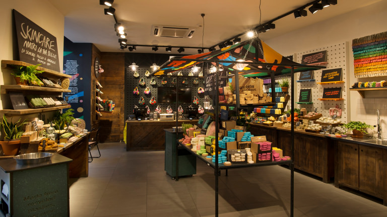 Inside lush packaging free shop