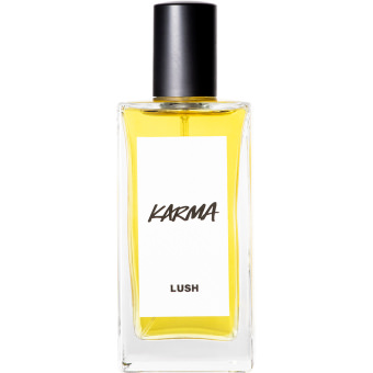 karma 100ml perfume in glass bottle