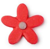 Ein pinker Bubble Spinner in Form einer pinken Blume