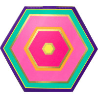 Multicoloured Hexagon Lush Gift Box