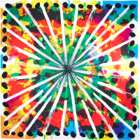 Colourful fireworks printed on a knot wrap