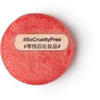 New champú sólido de color rojo cruelty free sin testado en animales