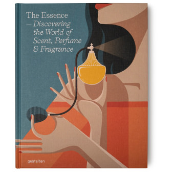 illustrated perfume themed book cover