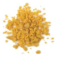 Textura de la limpiadora facial y corporal sin jabón Let The Good Time Roll con harina de maíz y la polenta para exfoliar y suavizar