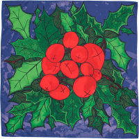 berry christmas knot wrap