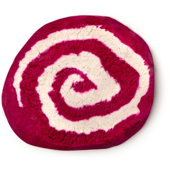 pink and white large sized bubble bar