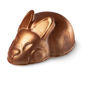 golden bunny shaped body butter