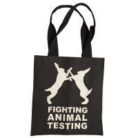 Saco de pano Fighting Animal Testing