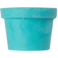 Bright blue naked body conditioner in the shape of a lush black pot