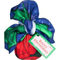 Confezione regalo di Natale Berry Christmas avvolta in un knot wrap
