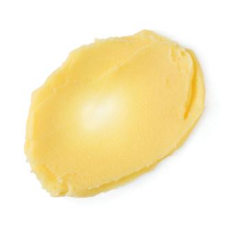 Shine So Bright é um bálsamo para pontas espigadas amarelo numa latinha