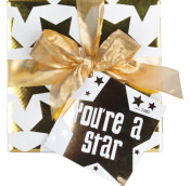 Confezione regalo You're a Star con nastro e stelle dorate