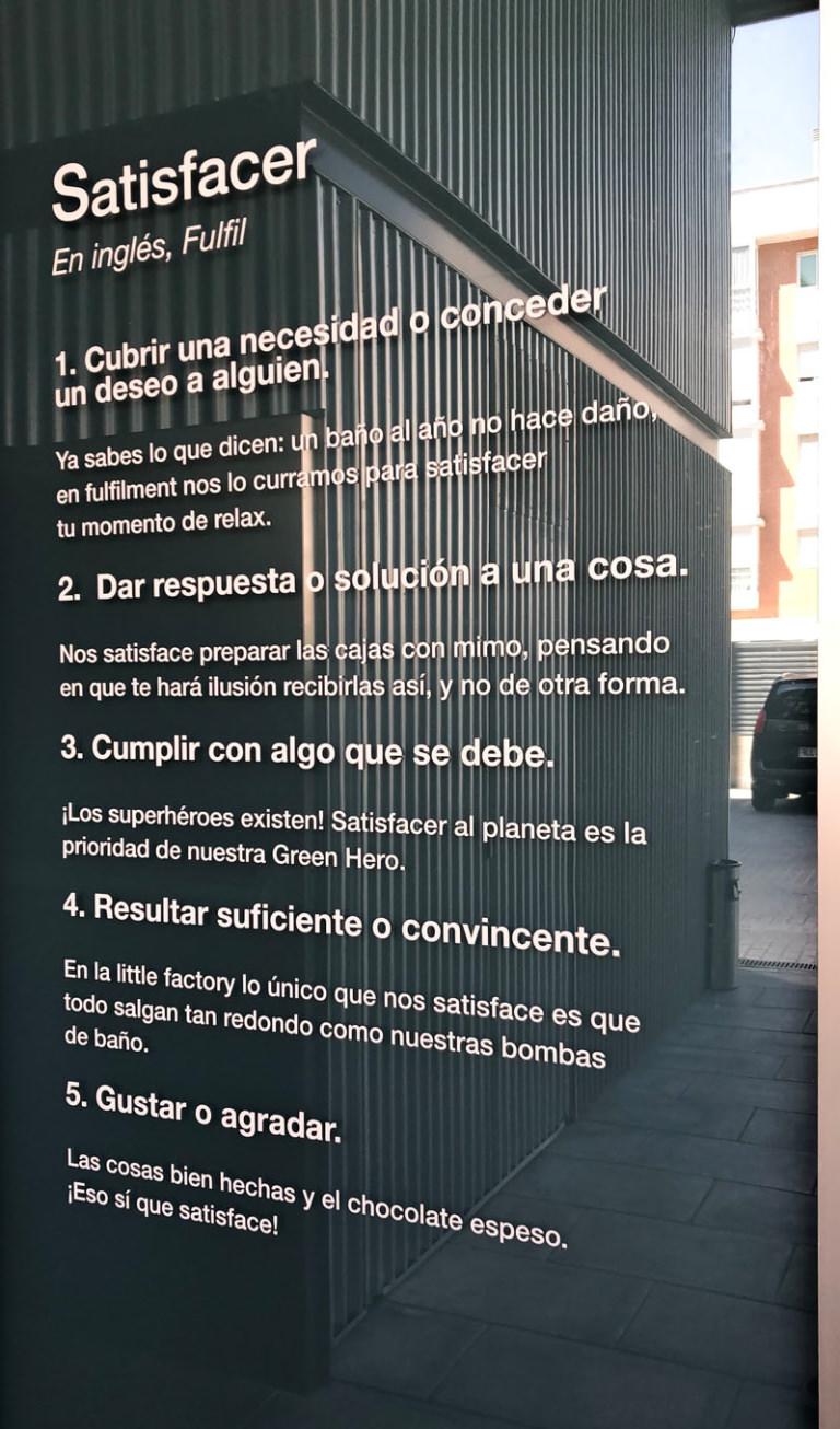 El credo del centro de logísitca de Lush en España donde preparan tus pedidos online