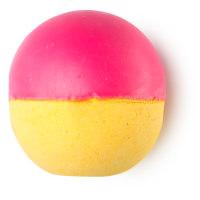 Bright pink Never Mind The Ballistics bath bomb