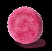 champú sólido zero waste de color rosa y redondo con aceite de argán y absoluto de rosa Jason & The Argan Oil