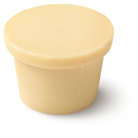 a pale pink ro's argan naked body conditioner in the shape of a lush pot