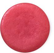 rose jam perfume sólido de color rosa en envase circular