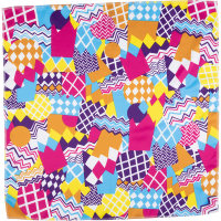 multicoloured zig zag themed knot wrap