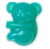 un jabón de color azul en forma de koala