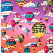 hot air balloon themed knot wrap