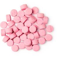 bubblegum pastillas para limpiar los dientes sin azúcar de color rosa