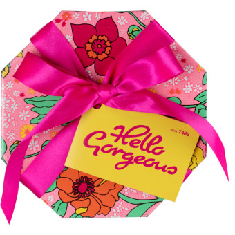 hello gorgeous caja de regalo de color rosa