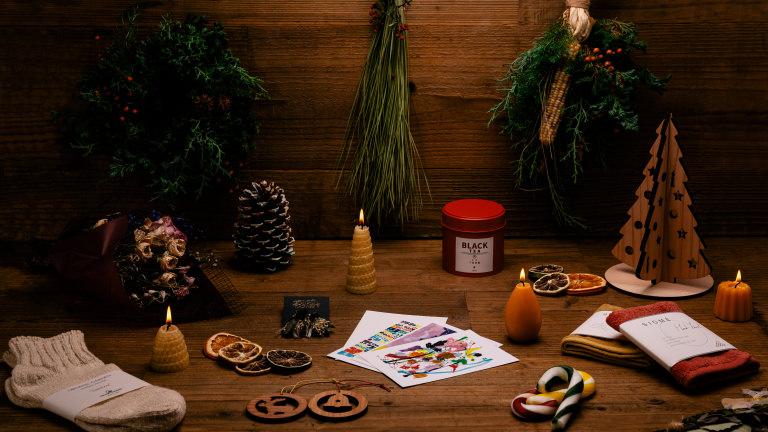 LUSH ラッシュ 新宿 ホリデーシーズン クリスマス マーケット POP-UP ポップアップ オーガニック キャンドル リース スワッグ サステナブル エシカル