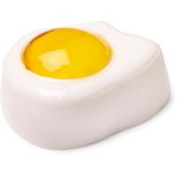 gelatina de ducha en forma de huevo frito