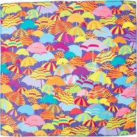 Knot wrap multicolore con stampa di ombrelli