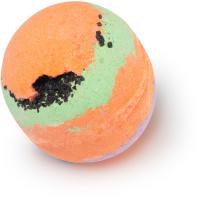 mercury retrograde bomba de baño en forma de planeta de color naranja halloween