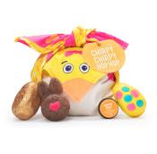 Chirpy Chirpy Hop Hop | Confezione regalo a forma di Pulcino in edizione limitata di Pasqua | Contiene prodotti per il bagno e la doccia avvolti in un knot wrap di cotone