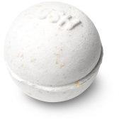 creamy white coloured mini bath bomb