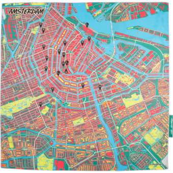 splash maps amsterdam knot wrap