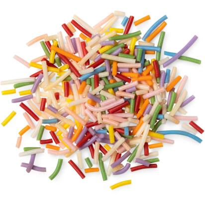 Multicoloured and vegan sprinkles
