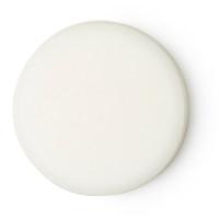 Ein weißer, kreisrunder, unverpackter Reiniger