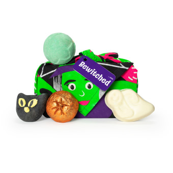 bewitched halloween knot wrap geschenk