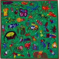 Christmas critters é um dos lenços de natal cheio de bichos carpinteiros coloridos