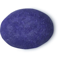 an oval shaped purple conditioner bar