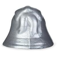 La gelatina de ducha de navidad de color plateado en forma de campana de navidad Silver Bells con fondo blanco
