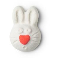 coco sugar scrub exfoliante corporal zero waste de color blanco en forma de conejo de pascua