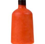 Crema da doccia solida Here Comes The Sun a forma di bottiglia arancione con tappo nero
