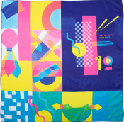 Un knot wrap colorido estilo Kandinsky para envolver tus regalos de navidad
