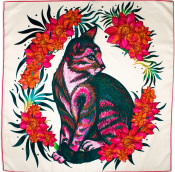 detailed cat themed knot wrap