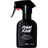Plum Rain spray corporal en botella negra