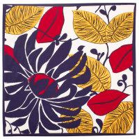 Winter floral é um dos lenços de natal com motivos florais