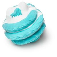 tengri bomba de baño vegano de color blanco y azul